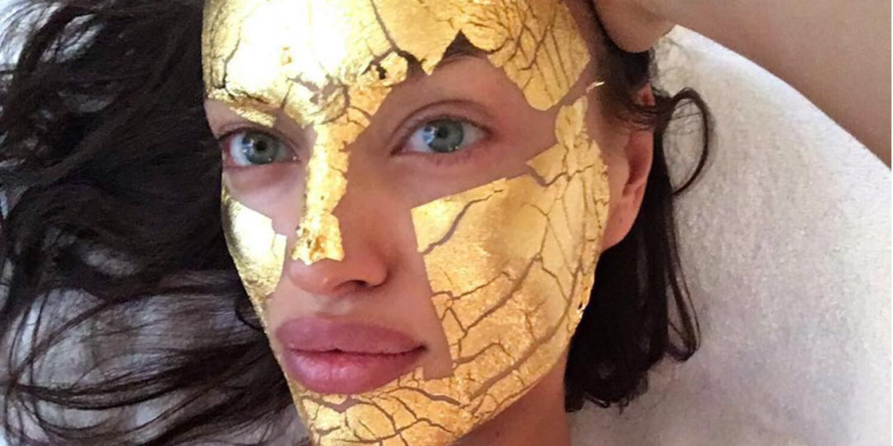 300$ Gold Face Mask